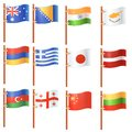 Flags of the world collection isolated on white background Royalty Free Stock Photo
