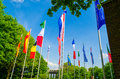 Flags of the world a sea flags different nations and organization Stock Photos