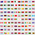 Flags of the world set Royalty Free Stock Photo