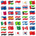 Flags of the world vector illustration Royalty Free Stock Images