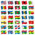 Flags of the world vector illustration Royalty Free Stock Photos