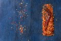 Flakes of red hot chili peppers Royalty Free Stock Photo