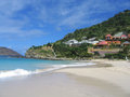 Flamands beach, St. Barts, French West Indies Royalty Free Stock Photo