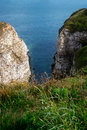 Flamborough coast a view showing the coastline with the white chalk cliffs yorkshire england uk Stock Photos