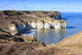 Flamborough head the chalk cliffs at on the yorkshire coast Royalty Free Stock Images