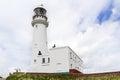 Flamborough head lighthouse yorkshire england uk europe Stock Image