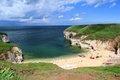 Flamborough north landing yorkshire beach england uk europe Stock Photo