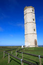 Flamborough old lighthouse the historic at yorkshire Stock Image