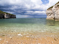 Flamborough yorkshire d atterraggio del nord Fotografia Stock