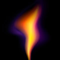 Flame on black background vector eps Stock Photos