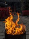 Flame burning in the temple Royalty Free Stock Images