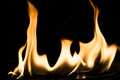 Flame in The Dark Royalty Free Stock Photo