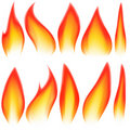 Flame elements Royalty Free Stock Photo