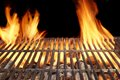 Flame Fire Empty Barbecue Grill Royalty Free Stock Photo