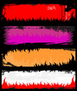 Flame grunge banners Stock Image