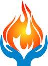 Flame hands