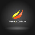 Flame logo design Royalty Free Stock Images