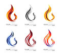 Flame logo design Royalty Free Stock Photo