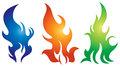 Flame logo set a fire icon Royalty Free Stock Photo