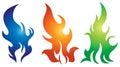Flame Logo Set