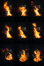Flame montage blacksmith forge in vertical format Royalty Free Stock Photo