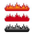 Flame set Royalty Free Stock Images