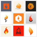 Flame. Set of posters, design elements Royalty Free Stock Photo