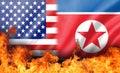 Flame on us and north korea flag
