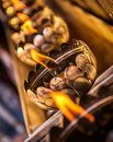 Flame in wat phra that doi suthep chiang mai thailand Stock Photography