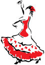 Flamenco dancer. Royalty Free Stock Photography