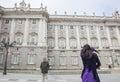 Flamenco dancer performing at Royal Palace, Madrid, Spain