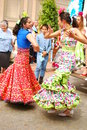 Flamenco dancers in beautiful dress Royalty Free Stock Images