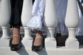 Flamenco dancers shoes Royalty Free Stock Photo