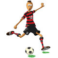 Flamengo soccer player illustration of who hits the ball Stock Photo