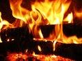 Flames fire Stock Photos