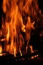 Flames of fire vertical Stock Photos