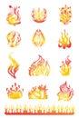 Flames set 01