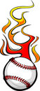 Flaming Baseball Ball Stock Images