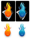 Flaming Basketball 2 Stock Image