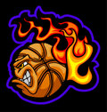 Flaming Basketball Ball Face Vector Image Royalty Free Stock Photography
