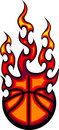 Flaming Basketball Logo Royalty Free Stock Photography