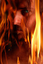 Flaming demon Royalty Free Stock Photo
