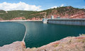 Flaming gorge dam the on the green river in northwestern colorado united states Royalty Free Stock Photography