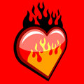 Flaming Heart Stock Image