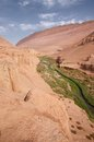 Flaming mountain in turpan the is made of red sandstones and winds its way from shanshan the east to turban the west like a huge Stock Images