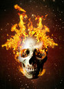 Flaming skull Royalty Free Stock Photo