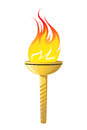 Flaming torch Stock Photos