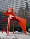 Flamingo backside this is a winter picture of the sculpture titled the located at the federal building in chicago illinois this is Royalty Free Stock Images