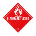 Flammable Liquid Placard Royalty Free Stock Photos