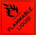 Flammable liquid warning sign Royalty Free Stock Photo